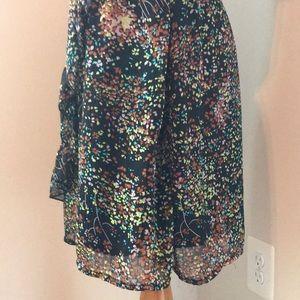 Mimi Chica Dresses - Autumn foliage sleeveless dress